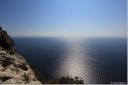 Blick hinaus aufs Mittelmeer....