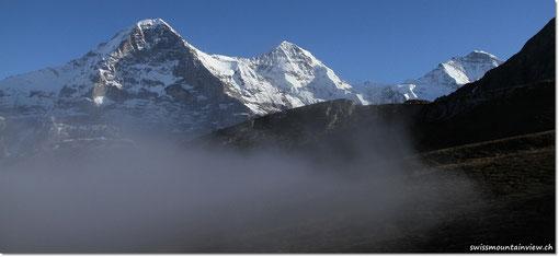 .. und schon hat uns der Nebel wieder - aber der Nachmittag an der Sonne war traumhaft!
