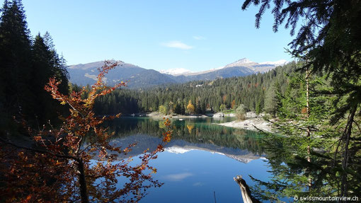 Hier ein paar Impressionen von diesem tollen Bergsee, an welchem man im Sommer auch herrlich baden kann.