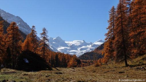 Wir sind unterwegs Richtung Berninapass und werfen noch einen kurzen Blick ins Roseggtal...