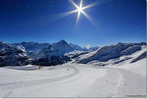 Winterwanderweg - fast alleine unterwegs und da dürfen wir dann auch