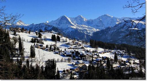 mit Sicht auf Eiger, Mönch und Jungfrau