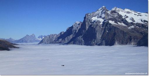 Wetterhorn, von Grindelwald ist nicht zu sehen..