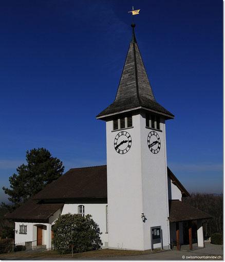 Die Kirche von Burgistein.