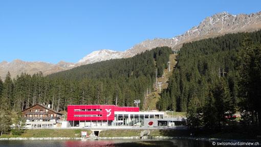 Die Talstation der Rothornbahn