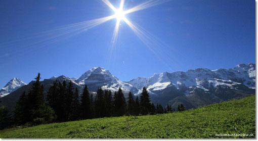 via Gimmelalp, wo es im Winter beim Skifahren