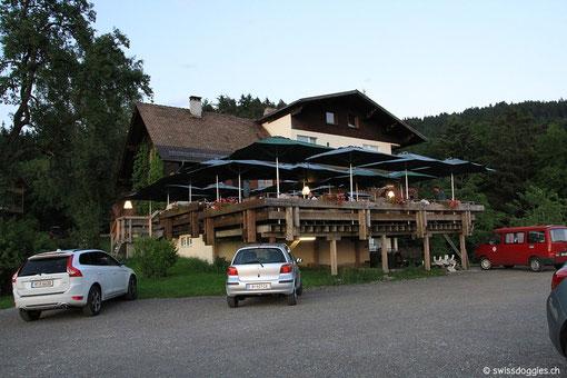 zum Berggasthof Fritsch oberhalb von Lochau A,