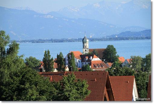Mit tollen Ausblick über Wasserburg.
