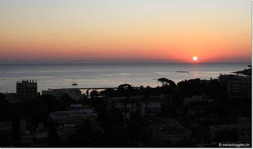 um den Sonnenaufgang von der Hapimag-Terrasse aus