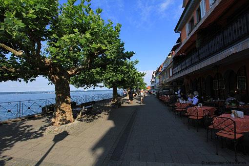 Am Morgen ist es hier noch relativ ruhig - am Nachmittag jedoch voller Touristen.