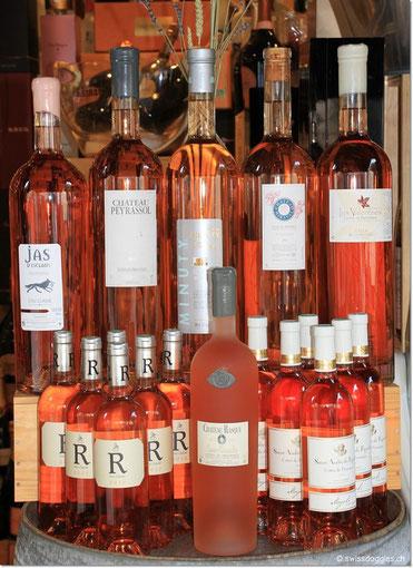 In dieser Gegend wird viel Rosé-Wein getrunken.