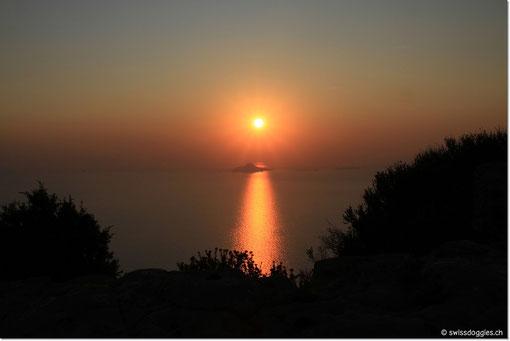Sunset von der Route des Crêtes.