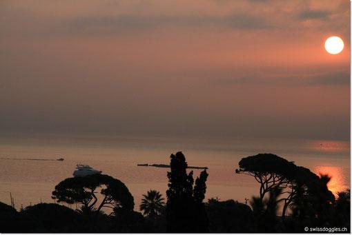 Heute mit ein wenig Wolken, aber trotzdem wunderschön: der vorletzte sunrise