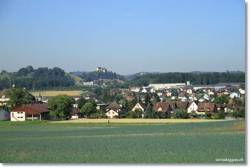 Blick aufs Dorf, in welchem ich früher mal gelebt hatte.