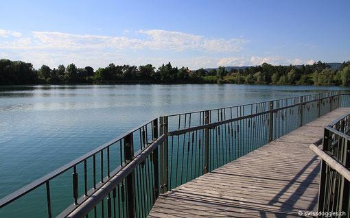 Gleich nebenan der Schlosssee