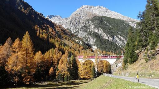 Die Rhätische Bahn bei Bergün.