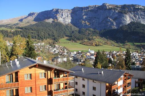 ...und die tolle Aussicht von unserem Balkon