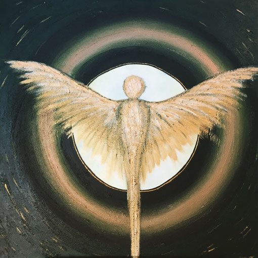 Floating Angel (Acryl/Struktur, 100x100)