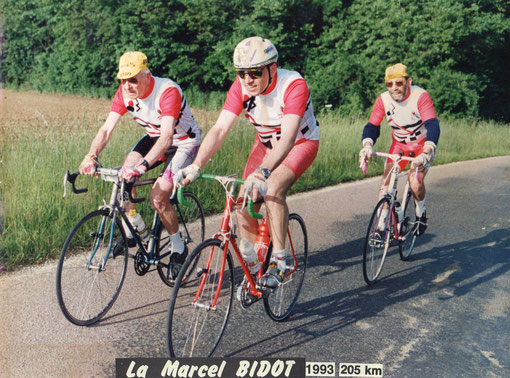 "1993 ""La Marcel Bidot""  205km avec Yves Quignard et Claude Cosson"