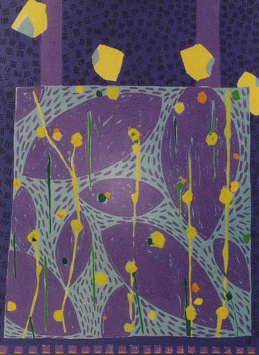 Pierre à la menthe.1999. Gouache sur papier.19,5X14,5 cm.