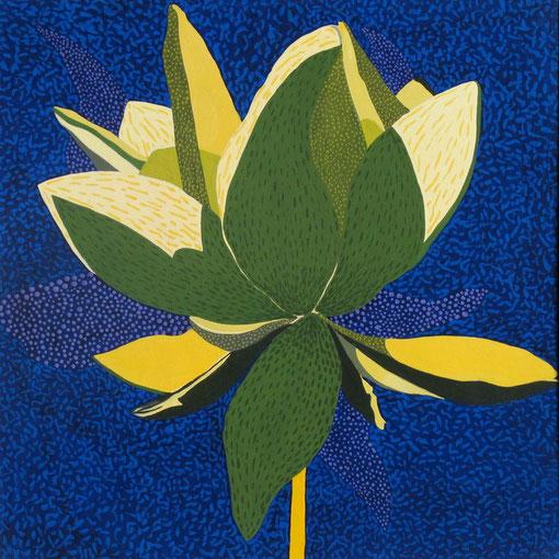 Fleur de Lotus 01.Gouache sur papier.30x30 cm.2011.