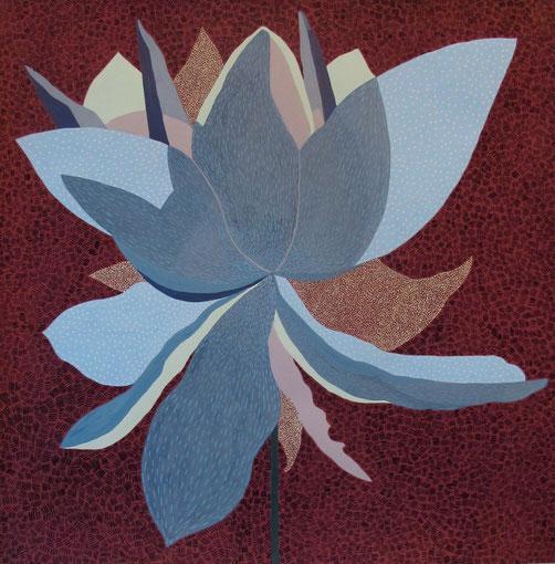 Fleur de Lotus 14.gouache sur papier. 50x50 cm. 2012.