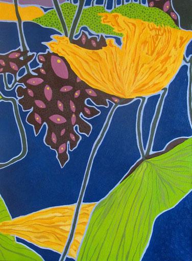 Lotus B03.Huile sur toile. 25P (85x60 cm) . 2011.