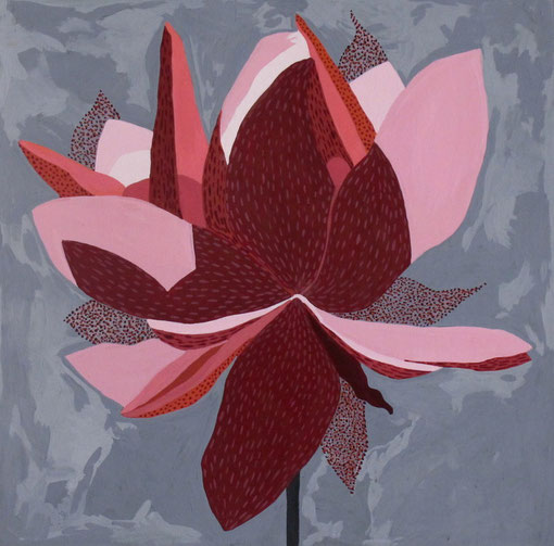 Fleur de Lotus 07.Gouache sur papier.30x30 cm.2012.