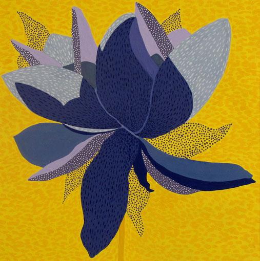 Fleur de Lotus 04.Gouache sur papier.30x30 cm.2012. Collection privée.