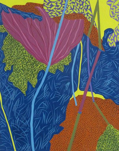 LotusB04.Gouache sur papier.30x24cm.2012.
