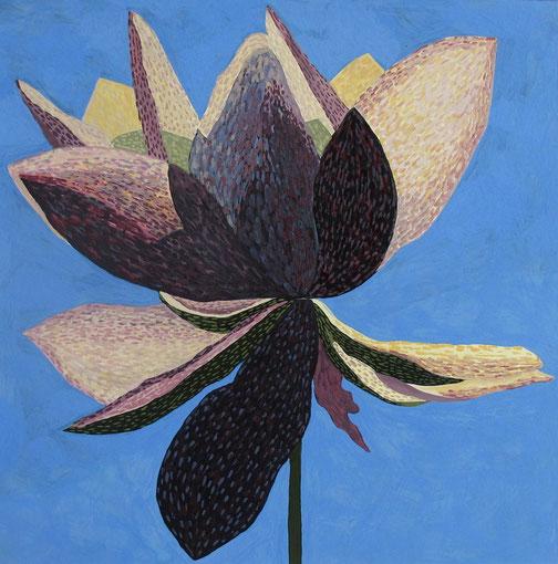 Fleur de Lotus06.Gouache sur papier.30x30 cm.2012.