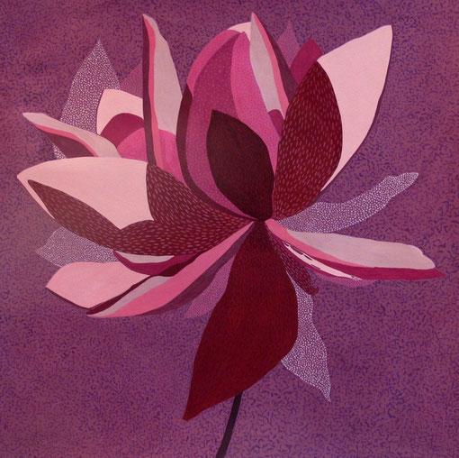 Fleur de Lotus 08. Gouache sur papier. 50x50 cm.2012.