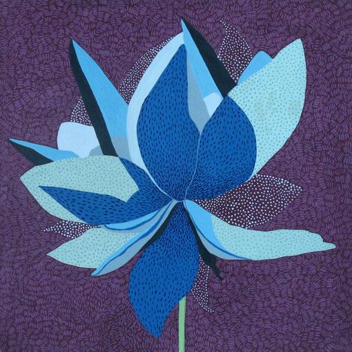 Fleur de Lotus 03.Gouache sur papier.30x30 cm.2011