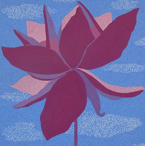 Fleur de Lotus 13. Gouache sur papier.20x20 cm. 2012. Collection privée.