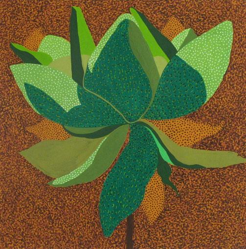Fleur de Lotus 02.Gouache sur papier.30x30 cm.2011.