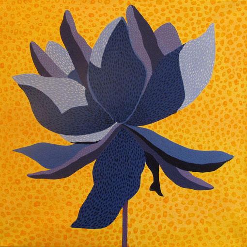 Fleur de Lotus 12. Acrylique sur toile. 40x40 cm. 2012. Collection privée.