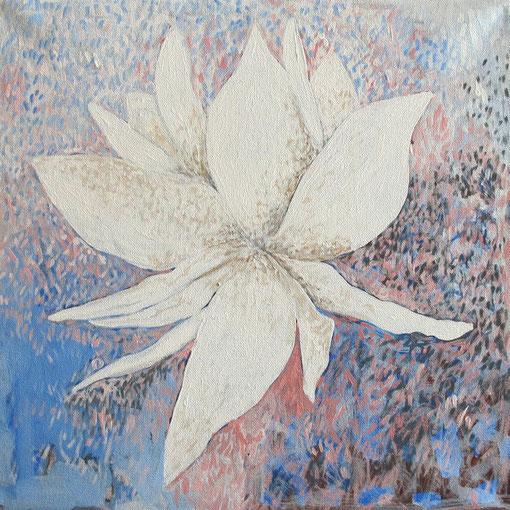 Fleur de Lotus 11. Acrylique sur toile. 40x40 cm. 2012. Collection privée.
