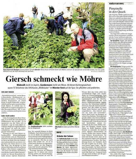Rheinische Post, 28. April 2008