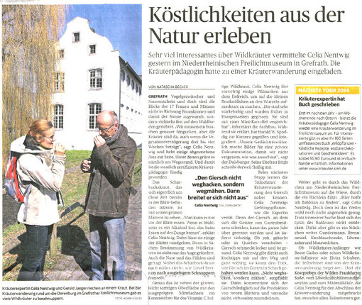 Rheinische Post, 8. April 2013