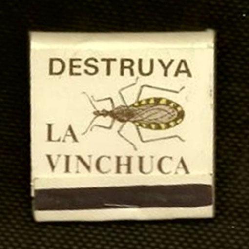 Caja de fósforos de Argentina: campaña contra la Vinchuca.