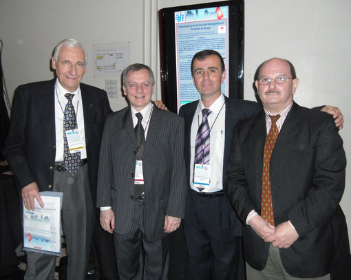 Dr. Ruben Szyszkowsky, Dr. Fabián Romano, Antonio Drago y Dr. Claudio Galli.