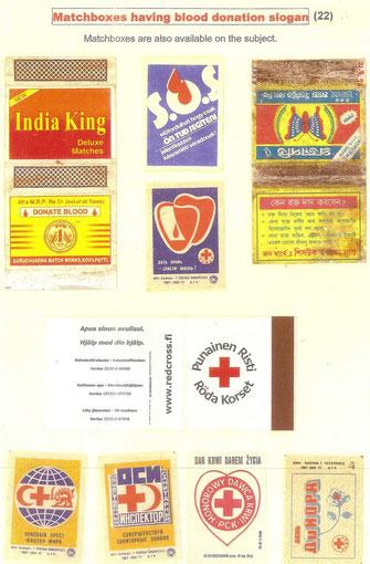 Mensajes en Cajas de Fósforos sobre la Donación de Sangre.