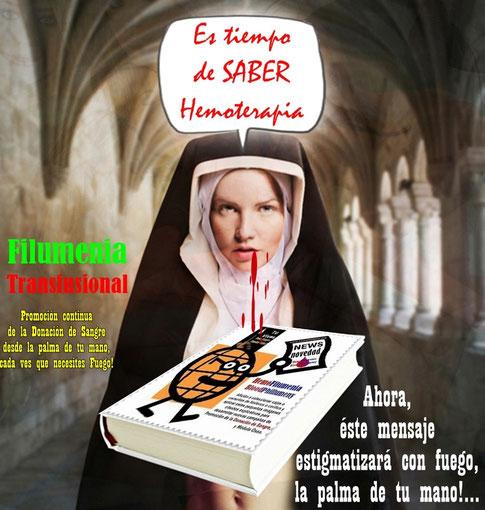 Afiche de Primera Exposición Internacional de HemoFilumenia, Viernes 13/09/2013.