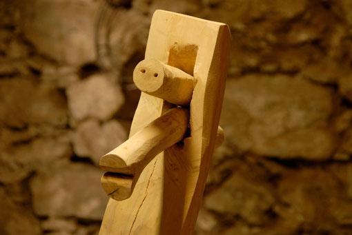 CARA madera de boj 40x20x25cm