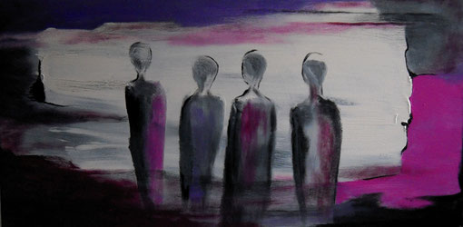 """Evening Walk"" Oscar Hernandez-Stewart."