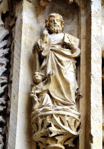 Les évangélistes du trumeau: saint Matthieu