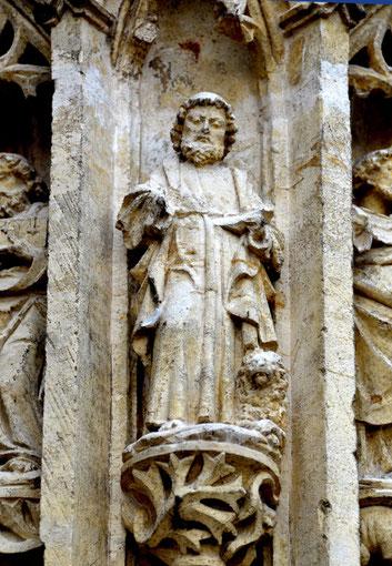 Les évangélistes du trumeau: saint Marc