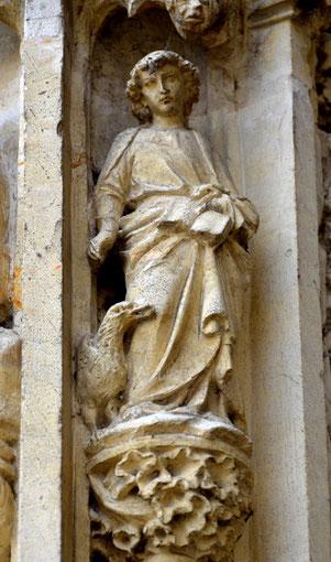 Les évangélistes du trumeau: saint Jean