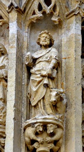 Les évangélistes du trumeau: saint Luc