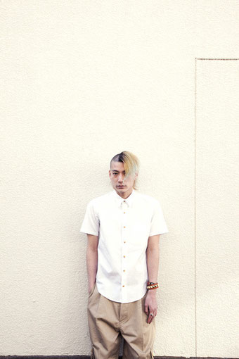 "/b COTTON WHITE SHIRT / STUDS WRISTBAND / SILVER RING ""TIGER CLAW"